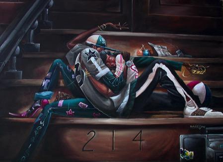 """Sweethearts"" by artist Frank Morrison"